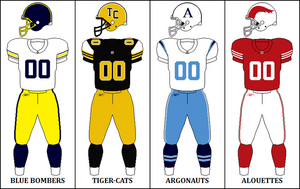 CFL Retro East Jerseys 2009