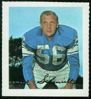 62 Joe Schmidt football card