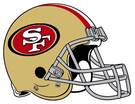 San Francisco 49ers helmet rightface