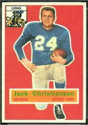 20 Jack Christiansen football card