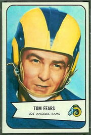 20 Tom Fears football card