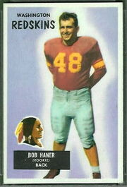 34 Bob Haner football card