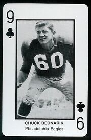 9C Chuck Bednarik football card