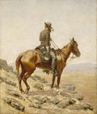 Frederic Remington - The Lookout - Google Art Project