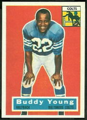 96 Buddy Young football card