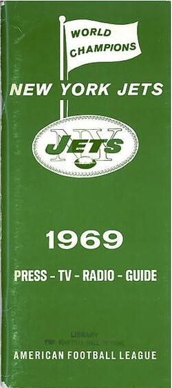 Jets 1969 media guide
