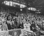 Harry Truman throws first pitch at 1952 Washington Senators season opener