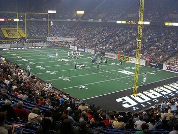 Arena football Kansas City wide shot