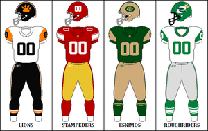 CFL Retro West Jerseys 2009