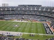 Oakland Coliseum field from Mt. Davis