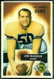 88 Leon McLaughlin football card