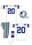 Cowboys white uniform 1964