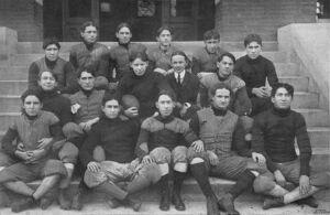 Black & white image illustrating the 1903 Alabama Polytechnic Institute, now Auburn University, varsity football team.