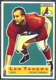 46 Len Teeuws football card