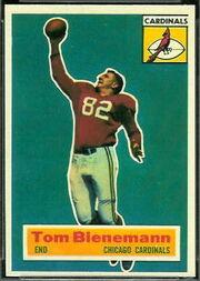 10 Tom Bienemann football card