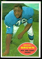 78 Roosevelt Brown football card