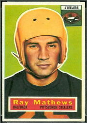 75 Ray Mathews football card