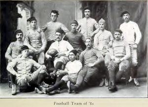 Yale football team, 1881