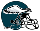 Philadelphia Eagles helmet rightface