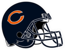 Chicago Bears helmet rightface