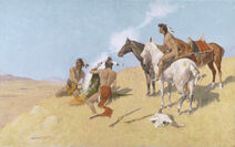 The Smoke Signal, 1905, by Frederic S. Remington