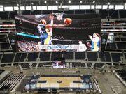 Cowboys Stadium configured for basketball
