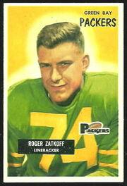 111 Roger Zatkoff football card