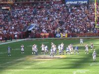 Washington Redskins New York Giants at line