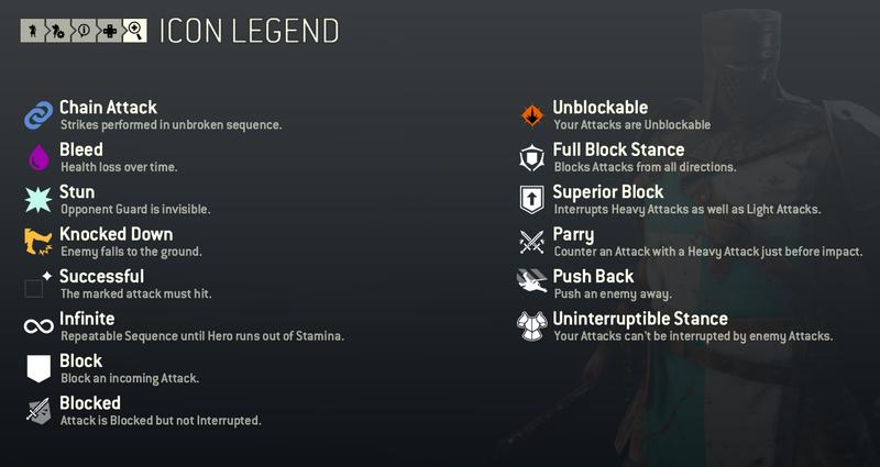 Ingame icon legend