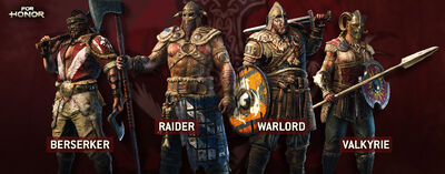 For Honor Berserker Raider Warlord Valkyrie