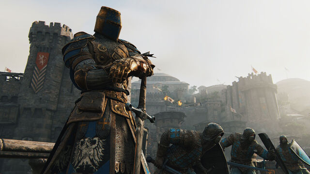 File:Knights warden overlooking battle - for honor.jpg