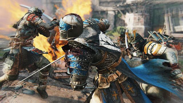 File:Two samurai vs knight - for honor.jpg