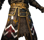 Warden standard and legs