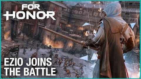 For Honor Fight Ezio in Assassin's Creed Crossover Ubisoft NA