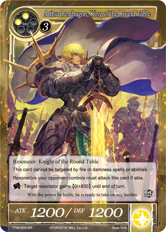 Force Of Will Knights Of The Round Table.Arthur Pendragon King Of The Round Table Force Of Will Tcg Wiki