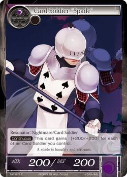 Card Soldier Spade