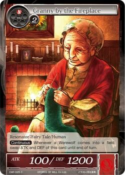 Granny by the Fireplace