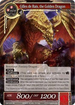 Gilles de Rais, the Golden Dragon