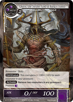 Osiris, the Nether God of King's Tomb