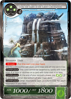 Trou, the Giant of the Fairie's Stronghold