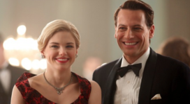 The Art of Murder - Henry & Abigail smiling