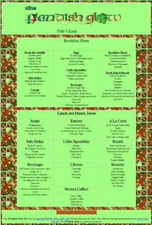 Tn FiendishGlow pub menu