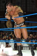 Batista with World Heavyweight Championship
