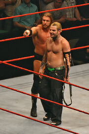 Jeff-Hardy-&-Triple-H,-RLA-Melb-10.11.2007