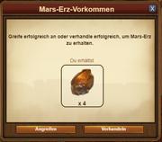 Mars-Erz-Vorkommen - Fundmeldung