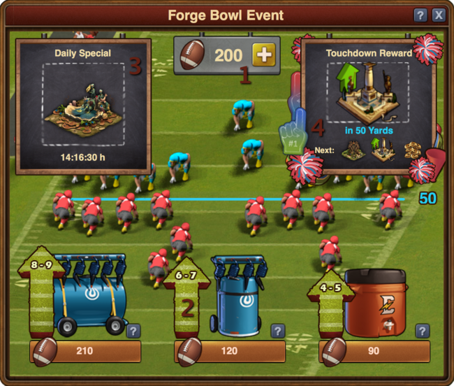 Example Forge Bowl Event Window