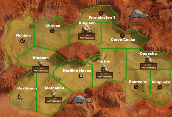 Space Age Mars Map