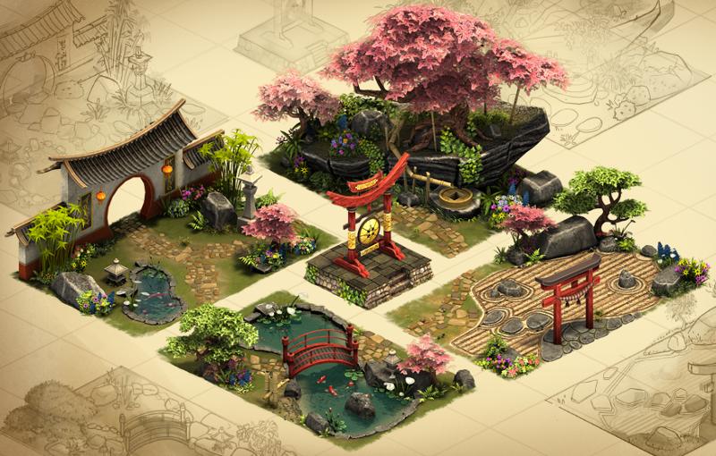 Cherry Garden Set | Forge of Empires Wiki | FANDOM powered