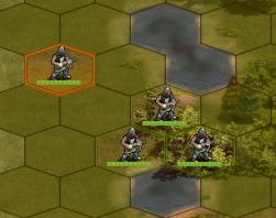 Crossbowmen in battle