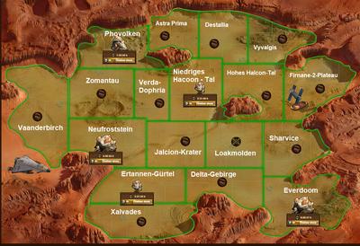 Karte 2 Raumfahrt Mars